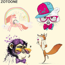 ZOTOONE Pretty Animal Patches Colorful T-Shirt Diy Decoration 2018 New Parches Ropa A-Level Washable Heat Transfers for Clothing