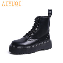 AIYUQI Martin boots women British wind student tide new retro lace up short boots female autumn patent leather ankle boots women aiyuqi women ankle boots 2019 new genuine leather female martin boots camouflage fashion lace women s boots