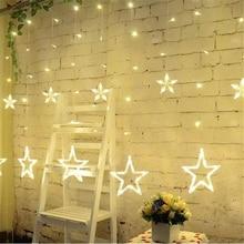 2M Christmas LED String Light AC220V EU Romantic Fairy Star Curtain LED String Light For Party Wedding Garland Lighting цена и фото