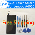 LCD+Touch Screen For Lenovo A6000 New Display Digitizer Glass Panel Replacement For Lenovo A6000 Smartphone -Black Color