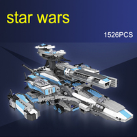 Star Wars Cosmic Boat 1526 Pcs Mini Bricks Models Building Blocks Kits Toys For Children Cool