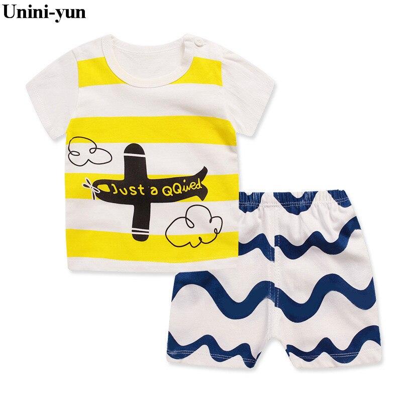 Baby boy clothes 2017 Brand summer kids clothes sets t-shirt+pants suit clothing set Cartoon Printed Clothes newborn sport suits