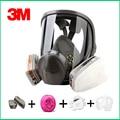 3 Original 3M 6800 respirador máscara de gás respirador máscara de proteção Da Marca contra gases Orgânicos com 6001/2091 fiter