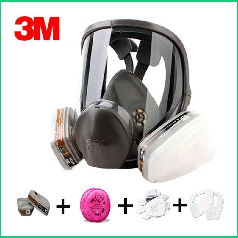 3 original 3m 6800 respirador mascara de gas respirador mascara de protecao da marca contra gases