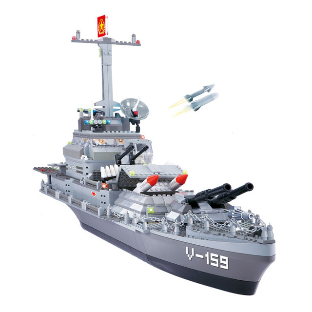 Military Battleship Blocsk Set
