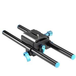 Универсальный алюминиевый рельсовый стержень Neewer, 15 мм, поддержка системы, высокий подъемный кронштейн для DSLR, базовая пластина 9,8 дюйма/25 с...