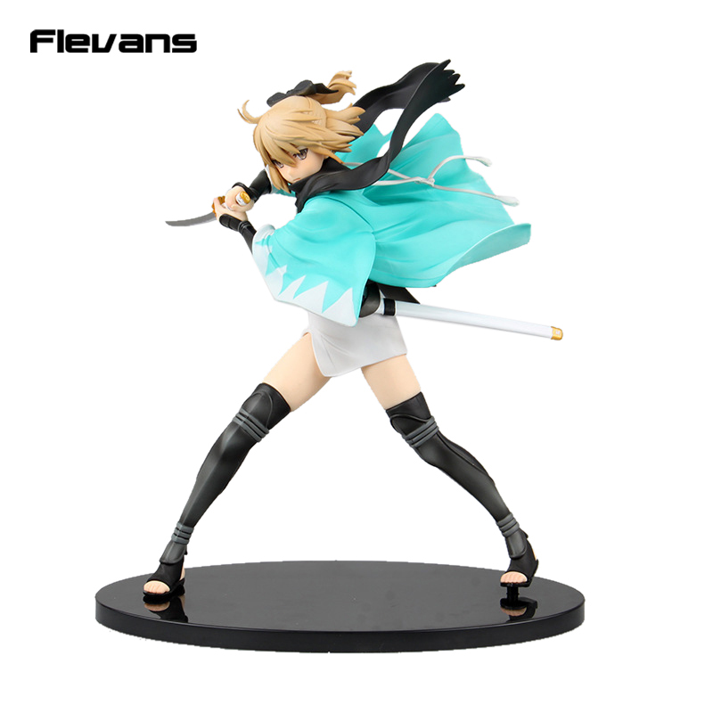 Fate Grand Order Sakura Saber Okita Souji 1/7 Scale Painted Figure Collectible Model Toy 23cm fate grand order anime saber jeanne gilgamesh e f g h i j series japanese rubber keychain