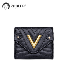 ZOOLER new Women Wallets Business Card Holder Women's Genuine Leather Wallet Coin Purse Female Clutch Bag Ladies' Purses#SL202