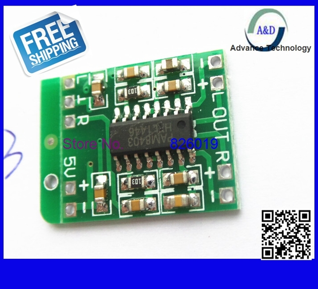 Original PAM8403 Audio Module DC 5V 2 * 3W Mini Class-D digital amplifier board efficient 2.5 to 5V USB power supply