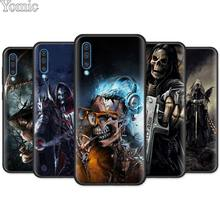 Grim Reaper Skull Skeleton Black Soft Case for Samsung Galaxy A50 A70 A40 A10 A20 A30 A60 M30 M10 M20 Silicone TPU Cover