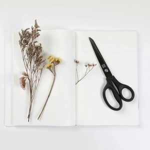 Image 5 - Huohou Titanium plated Scissors Black Sets Paper Cutting Scissor Sewing Thread Antirust Pruning Scissor Leaves Trimmer Tools Kit