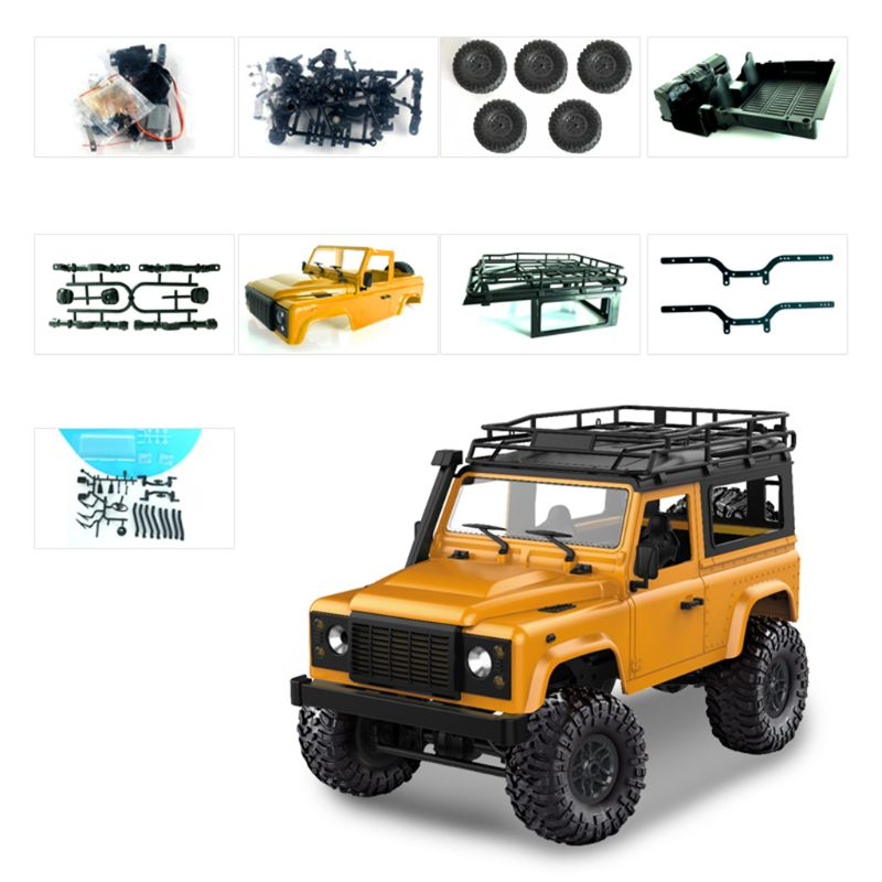 1/12 RC Rock Crawler D90 2.4G 4WD Car Remote Control Truck Toys Unassembled Kit Defender image