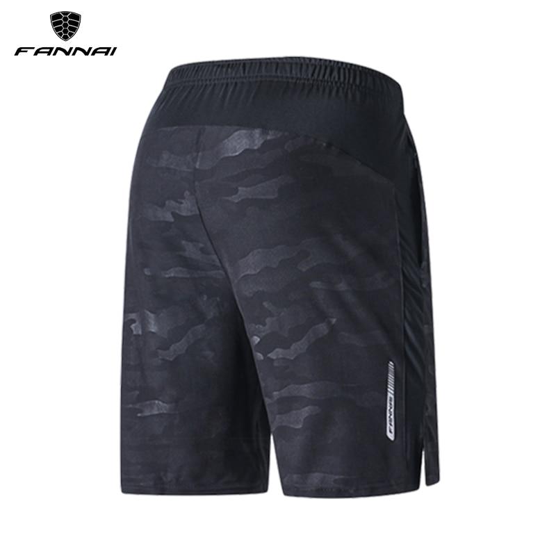 FANNAI Running Shorts Men Training Marathon Quick Dry Fitness Gym Printing Sport With Pocket Plus Jogger