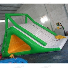 Qinda 0.9mm PVC Tarpaulin Water Park Use Water Inflatable Climbing Floating Slide