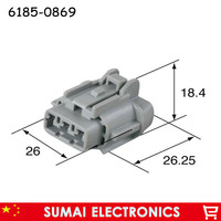 6185 0869 2 Pin 2.3mm female car plug, Auto electrical connector for Sumitomo car motorcycle etc.