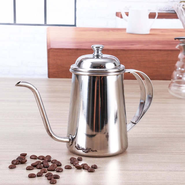 Stainless Steel Coffee Drip Kettle Frothing Jug Coffee Pot Gooseneck Spout Kettle High Quantity Coffee Tea tools 650ML 6