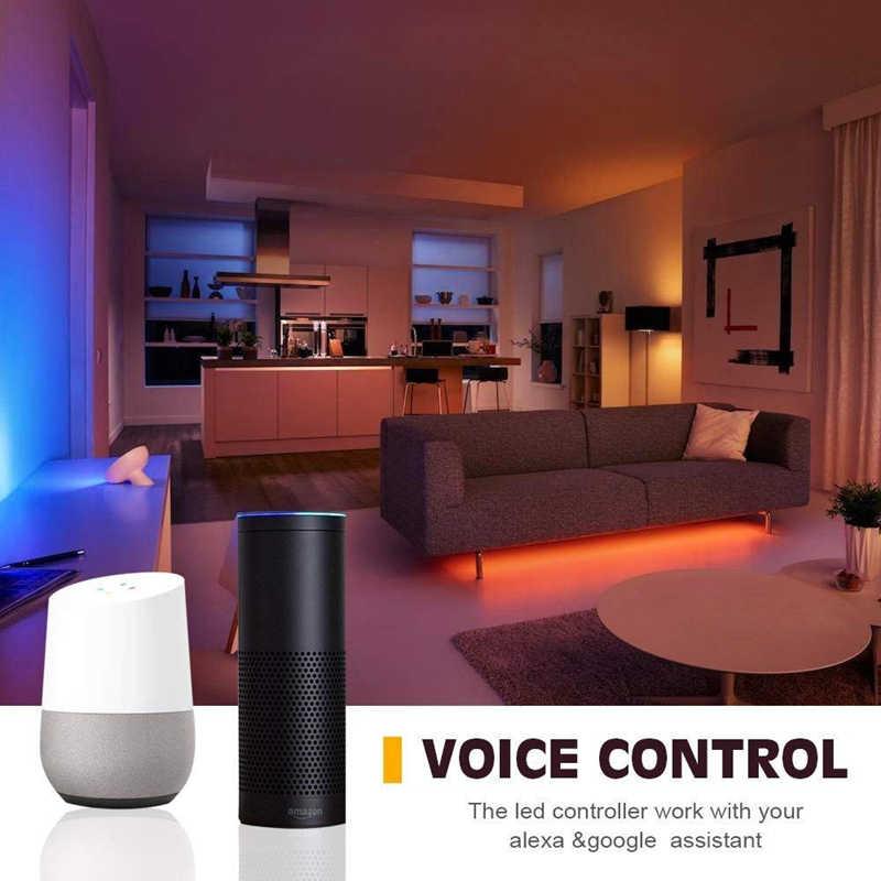 บลูทูธ WiFi LED Controller Amazon Alexa Google Pixel remote สำหรับ WS2811 WS2812B SK6812 เดี่ยวสี RGB RGBW rgb cct LED strip