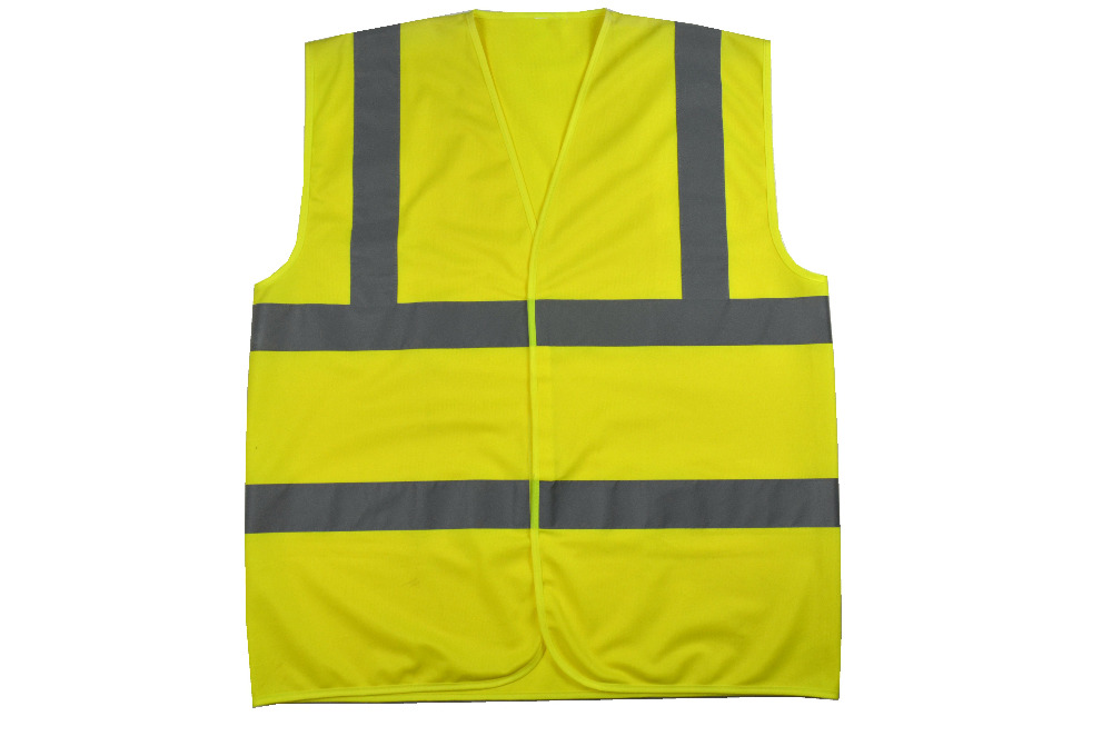 High Visibility Safety Vest Yellow Hi-Vis Knitted Traffic Construction Workwear ccgk safety clothing reflective high visibility tops tee quick drying short sleeve working clothes fluorescent yellow workwear