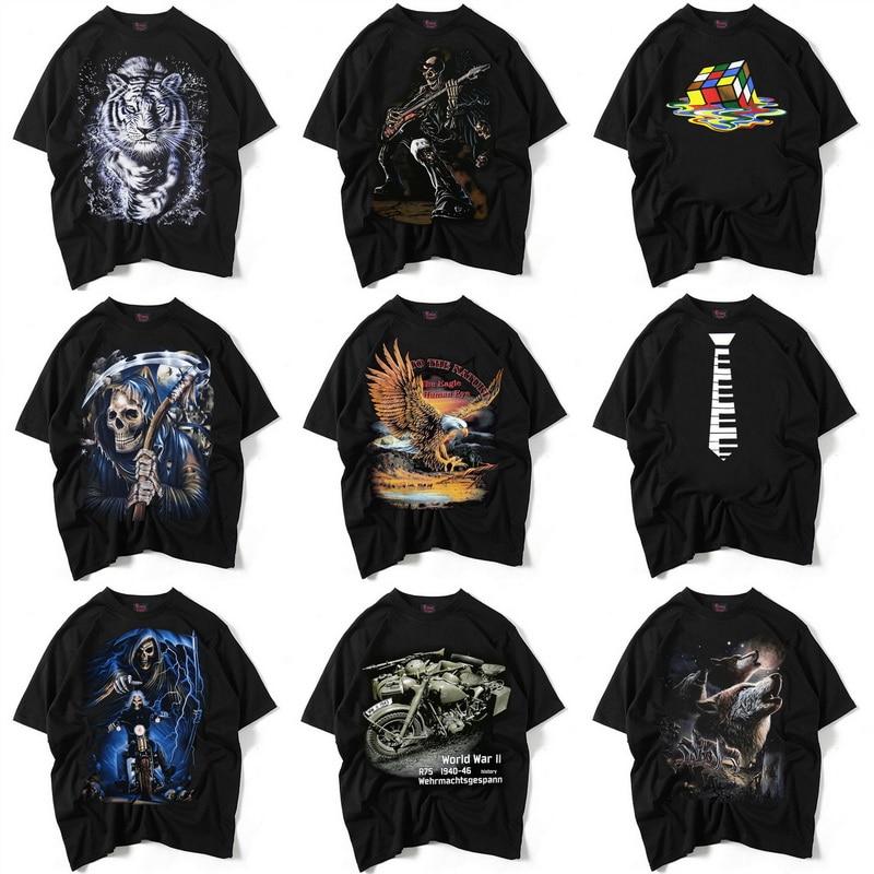 Τρίτος Παγκόσμιος Πόλεμος Τρισδιάστατο T-Shirt Στρατιωτικά Άντρες Ευρώπη και ΗΠΑ StreetWear T Shirt Μπλουζάκια Μοτοσικλέτας Αγίου Βαμβάκι O-Neck, UMA426