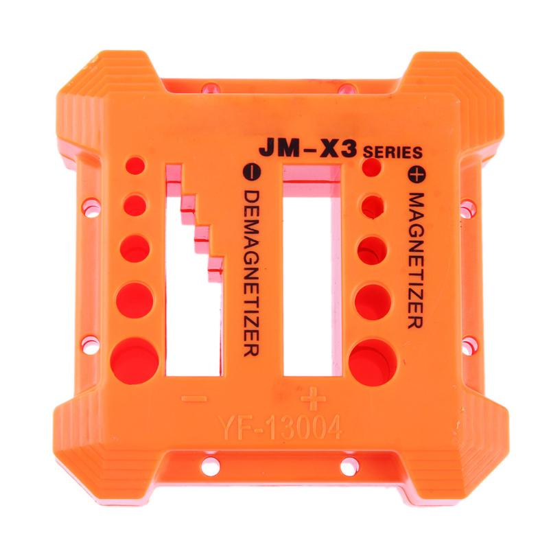 JM-X2 Magnetizer Demagnetizer Tool Orange Screwdriver Magnetic Pick Up Tool Screwdriver Magnetic Degaussing free shipping magnetize for screwdriver plus porcelain degaussing degaussing minus porcelain disassemble charge sheet page 1