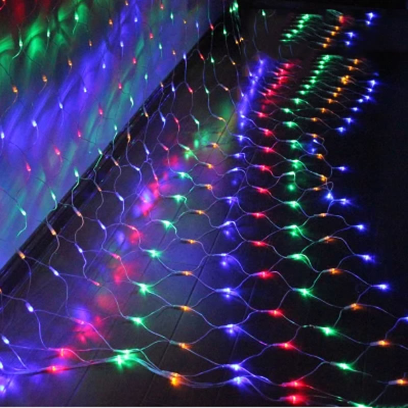 1,5m * 1,5m 3m * 2m 6x4M LED Net Fairy String Light Jul Bröllopsfest - Festlig belysning - Foto 2