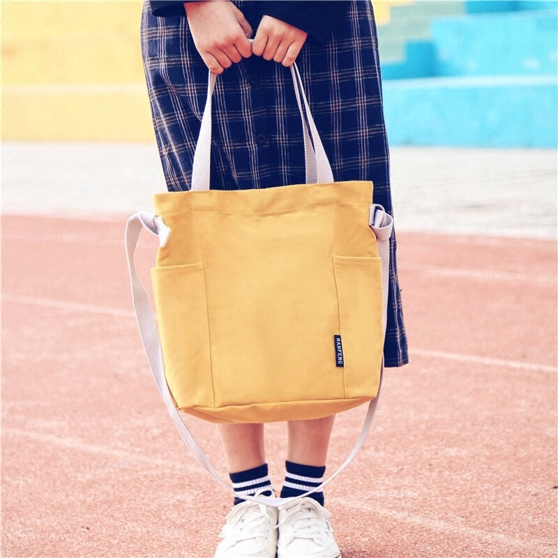 Korean Ulzzang Vintage Canvas Shoulder Bag 2018 Women Handbags Tote Casual Leisure Messenger Bags High Capacity Ladies Hand Bag new 2016 women bag vintage canvas handbags messenger bags for women handbag shoulder bags high quality casual bolsa l4 2669