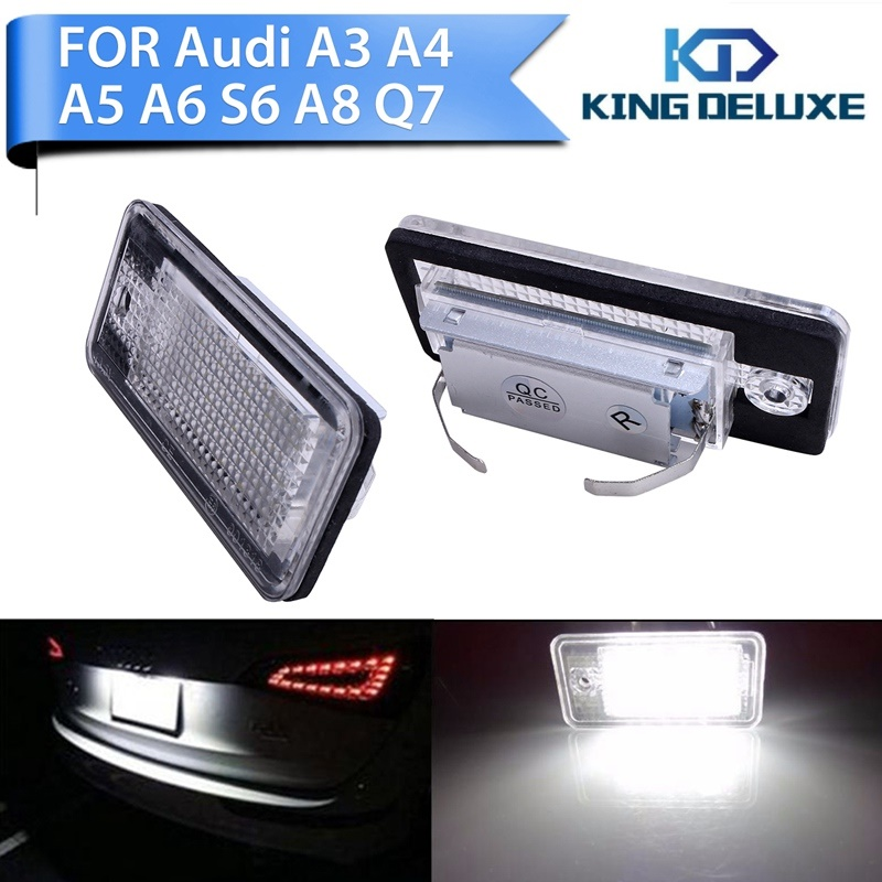 2x High Power Car Rear LED License Number Plate Light Lamp For Audi A3 S3 A4 S4 B6 B7 A6 S6 A8 Q7 Car Acessory #P249