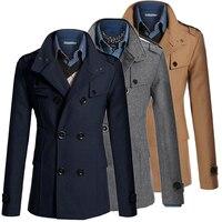 Tranchée Manteau Hommes Classique Hommes de Double Breasted Masculino Tranchée Vêtements Long Vestes Manteaux de Style Britannique Pardessus 3XL Plus La Taille