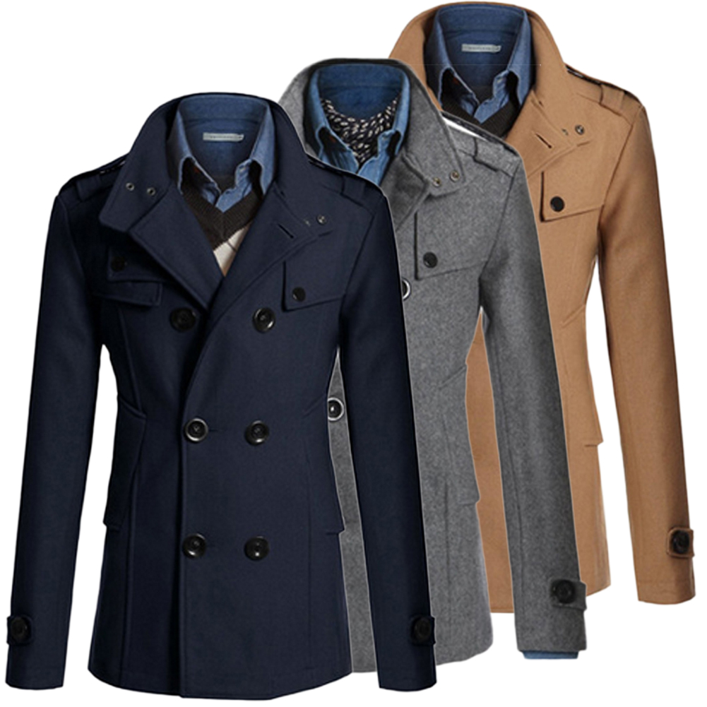 Trench Coat Men Classic Men's Double Breasted Masculino Trench Clothes Long Jackets Coats British Style Overcoat 3XL Plus Size