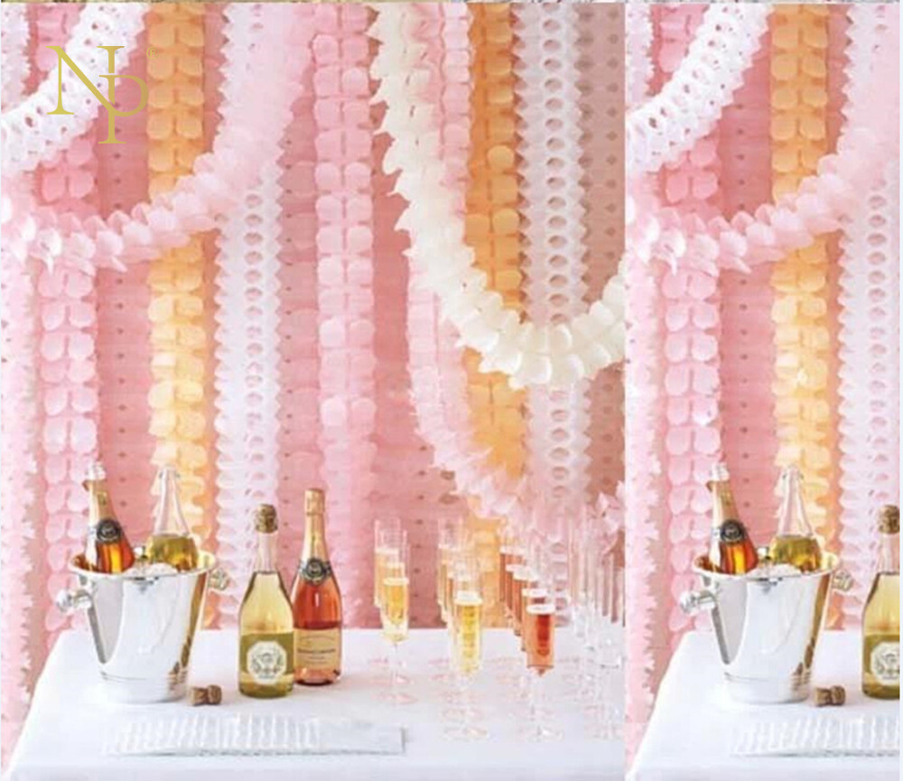 Nicro 3,6 м гирлянды бумага в виде клевера Пасхальный день рождения шторы Свадьба Помолвка вечерние украшения дома овсянка свадебные # Oth89
