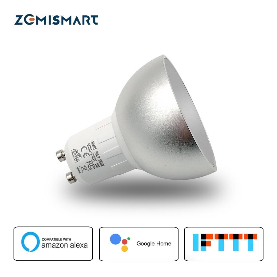 GU10 WiFi RGBW LED Travaux Légers avec Alexa Echo Google Aide à Domicile IFTTT Soutien APP Minuterie Voix Contrôle Domotique lampe
