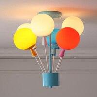 Новинка красочный шар потолочные огни Nordic подвесные светильники Творческий Магия стеклянный шар огни гостиная спальня потолочные светиль