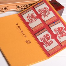 Chinese and English paper-cut Chinese traditional crafts business small gifts paper-cut bookmarks home decorations недорого