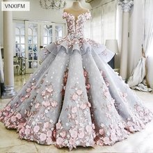 VNXIFM 2019 Colorful Luxur Ball Gown Wedding Dress