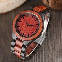 Männer der Mode Natur Holz Armbanduhr Roman Handgemachte Sport Einfache Full Holz Strap Bambus Analoge Uhr Casual Frauen Geschenk-in Quarz-Uhren aus Uhren bei