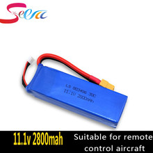 2pcs 11.1V 2800mah 3S Battery for WLtoys V303 XK X350 Cheerson CX-20 CX20 RC Quadcopter drone Spare Parts