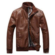 Free Shipping Men's Leather Jackets High Quality Men's Locomotive Pu Coat Men's Casual Leather Coat M-5XL