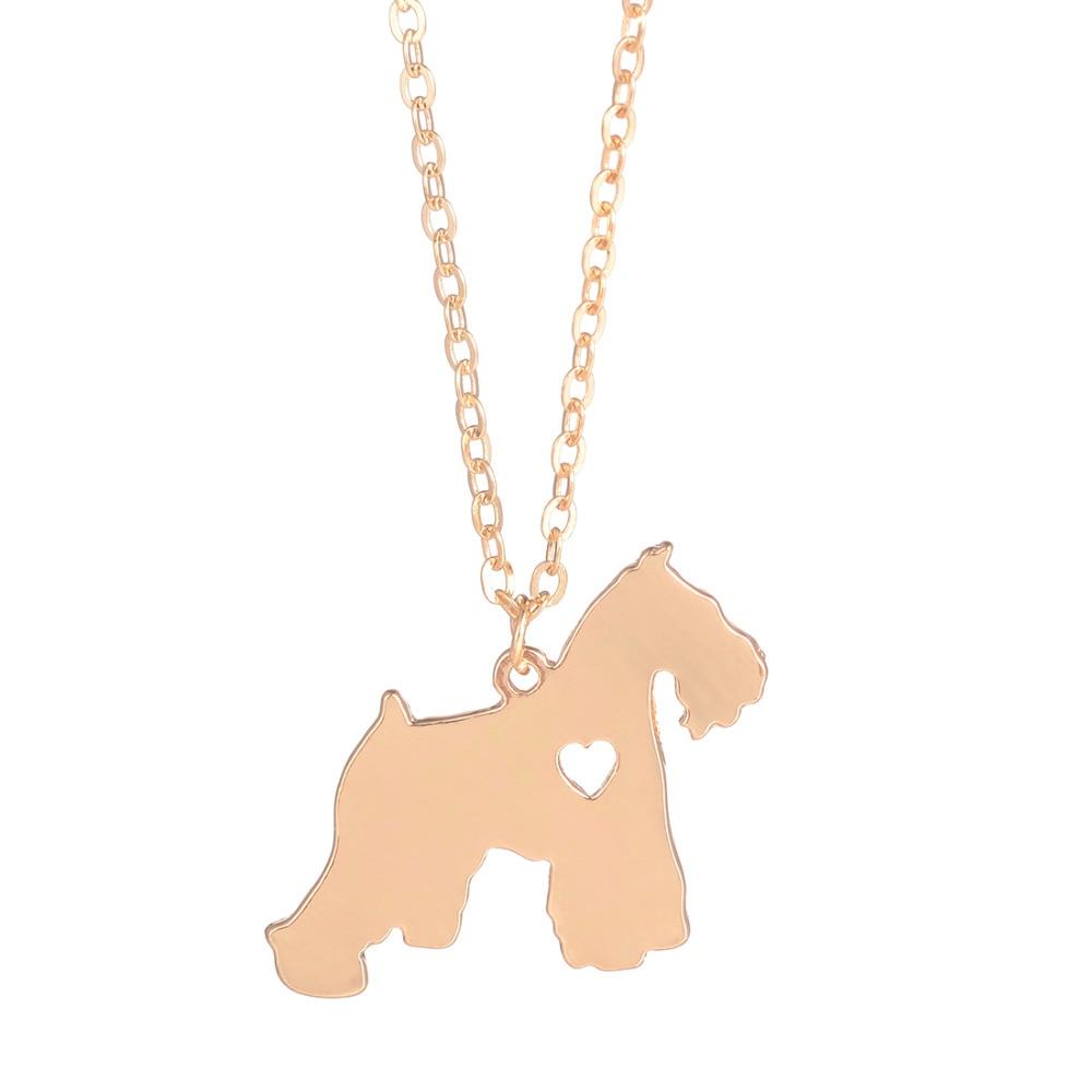 Wholesale 30pcs Schnauzer Necklace Dog Pendant Pet Jewelry Charm Long Chian Christmas Gift Family Pet For Women Men