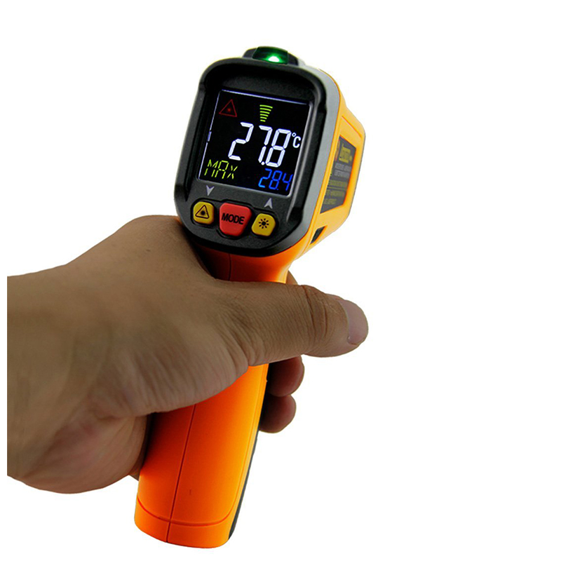 Digital LCD Infrared IR Laser Thermometer Auto Power-off with Laser Pointer Non-contact Temperature Pyrometer IR Laser Point Gun mastech ms6530a d s 12 1 non contact infrared thermometer ir temperature gun with laser pointer tester 20c 850c