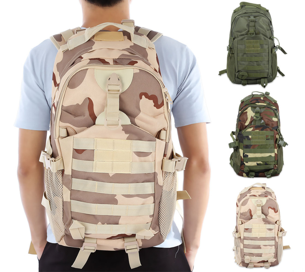 35L Outdoor Bag Tactical Backpack Camouflage Bags Rucksack Outdoor Sport Climbing Hiking Camping Military Backpack Army Green 35l waterproof tactical backpack military multifunction high capacity hike camouflage travel backpack mochila molle system