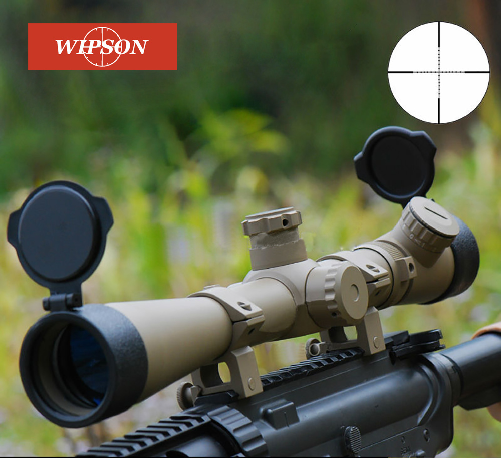 WIPSON Memburu Optik Optik Airsoft Air Gun 3.5-10X40 SF Illuminated Rifle Scope Mil-dot Reticle Telescopic Collimating Sight