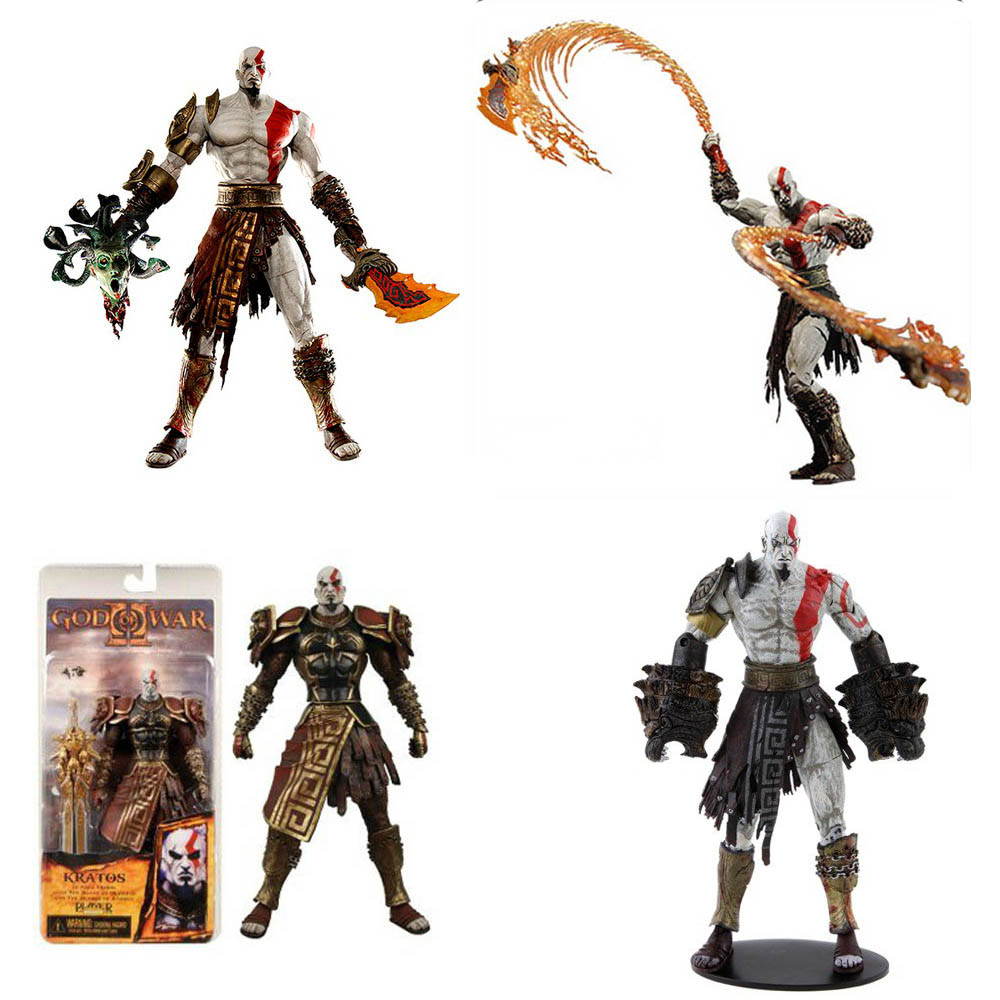 Neca 7 God of War Kratos Action Figure PVC Doll Model Collectible Toy Gift [resin made] 1 4 scale god of war 3 kratos resin figure statue fans action figure collectible model toy 35cm retail box wu785