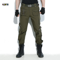 Idopy Men S Military Cargo Pants Multi Pockets Camouflage ArmyGreen Plus Size Tactical Army USA Trousers