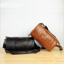 Fashion Genuine Leather Men's Messenger Bags Man Portfolio Office Bag Quality Travel Shoulder Handbag for Man
