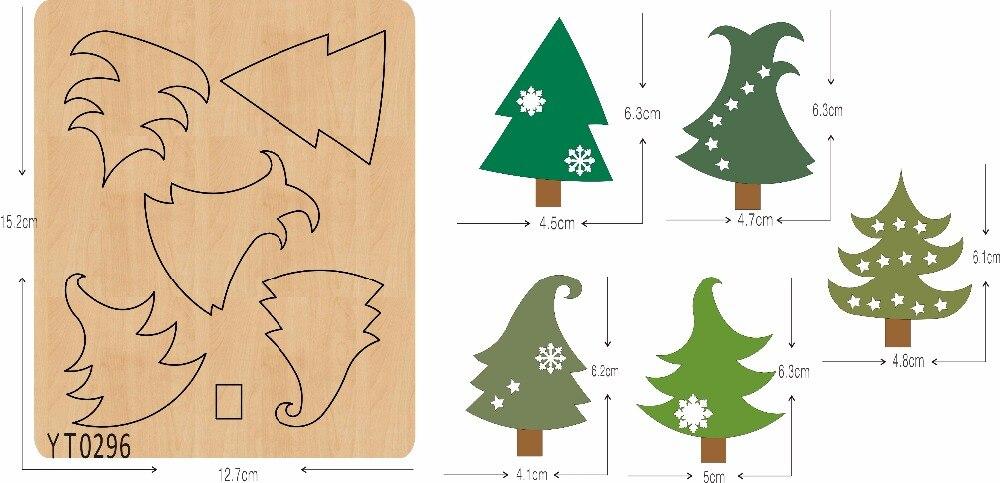 Arbre de noël étrange bricolage en bois die/outil de découpe/Scrapbook moule/YT0296-in Matrices à découper from Maison & Animalerie    1
