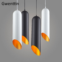 Modern Tom Dixon Pipe Pendant Lights Aluminum Led Hanging Lamp for Living Room Kitchen Fixtures Luminaire Loft Industrial Decor