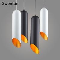 Modern Tom Dixon Pipe Pendant Lights Aluminum Led Hanging Lamp for Living Room Kitchen Fixtures Luminaire Loft Industrial Decor