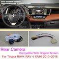 For Toyota RAV4 RAV 4 XA40 2013~2016 / RCA & Original Screen Compatible / Car Rear View Camera Sets / HD Back Up Reverse Camera