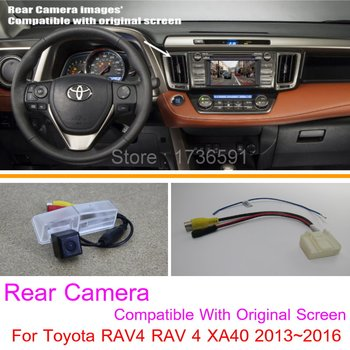 Lyudmila For Toyota RAV4 RAV 4 XA40 2013~2016 / RCA & Original Screen Compatible / Car Rear View Camera Sets / HD Reverse Camera image