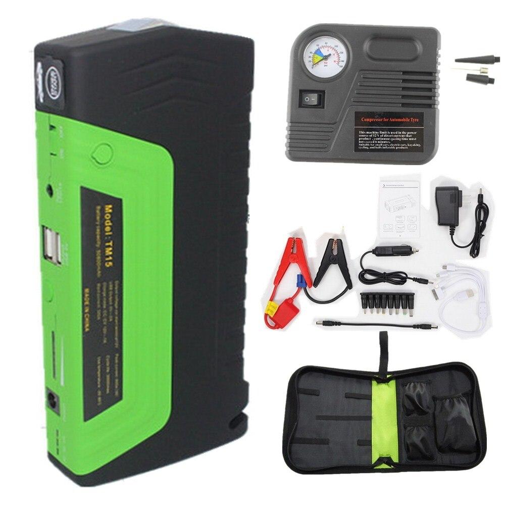 Démarreur de saut de voiture batterie externe de voiture avec pompe Super fonction